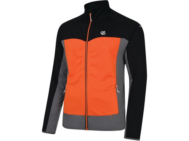 Dare 2b Riform Core Stretch Jacket Herrer, black/clementine orange/aluminium grey